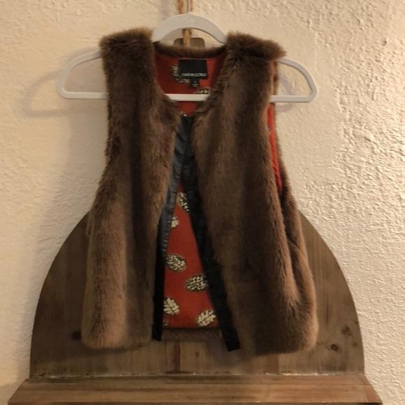 Cynthia Rowley Jackets & Blazers - Cynthia Rowley Fur Vest Size S